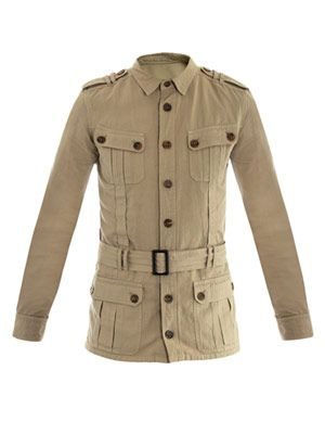 Military cotton-linen jacket