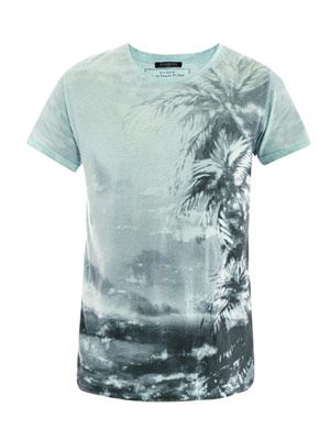 Palm-tree print T-shirt