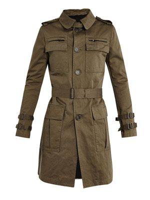 Cotton trench-coat