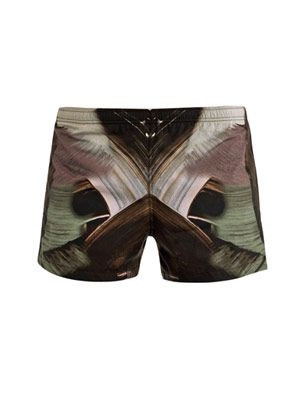 Paint-print swim shorts