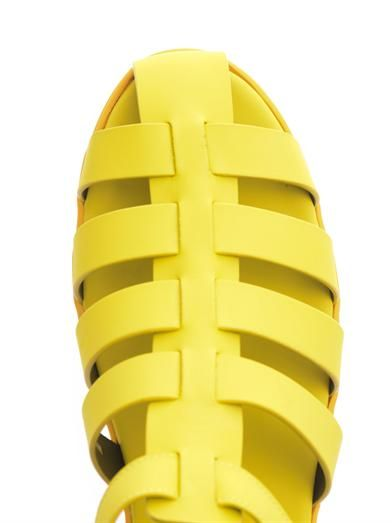 Christopher Kane Rubberised sandals