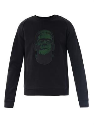 Frankenstein patch sweatshirt