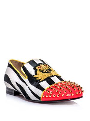 Harvanana zebra ponyskin loafer