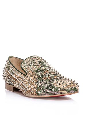 Rollerboy spiked tapestry loafer