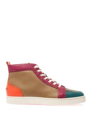 Fleuri colour-block high-top trainers