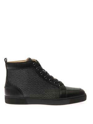 Rantus leather high-top trainers