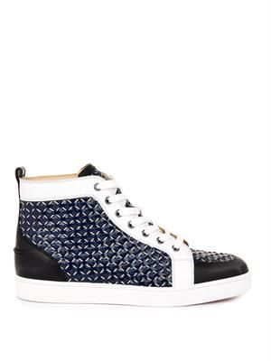 Rantus woven-rope and leather trainers