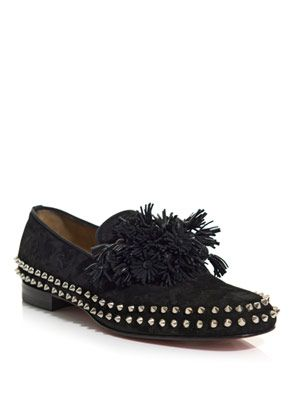 Spike and tassel loafers