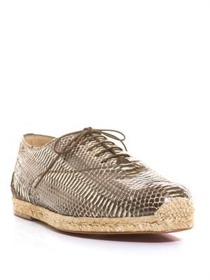 Espafred watersnake lace-up espadrilles