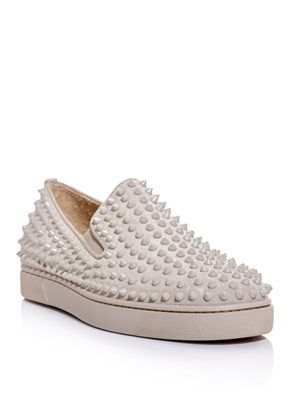 Rollerboat spiked slip-on trainers
