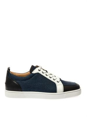 Rantulow leather and raffia trainers