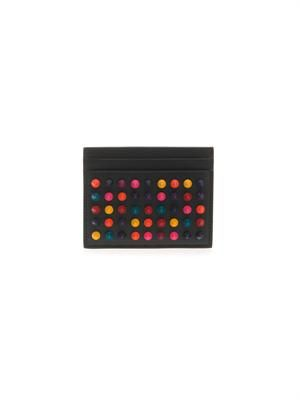 Kios Spikes leather cardholder