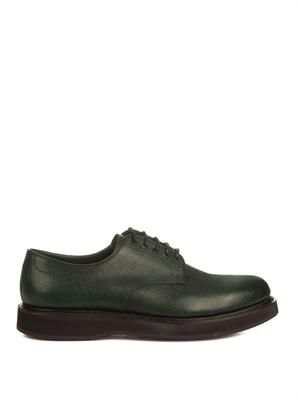 Leyton leather derby shoes