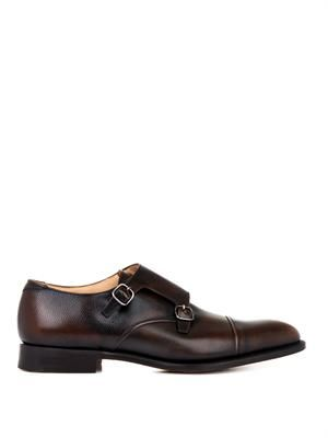 Ledstone leather monk-strap shoes