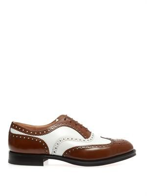 Burwood bi-colour leather brogues