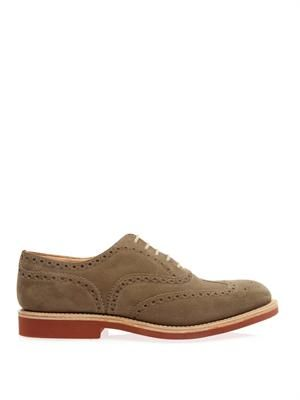 Downton suede brogues