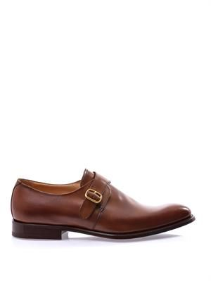 Bampton leather monk shoes