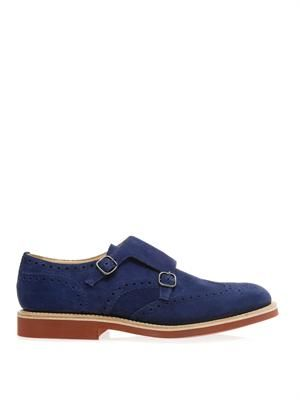 Kelby suede monk-strap shoes