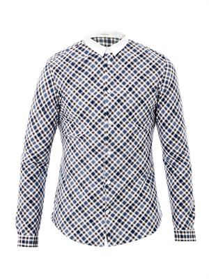 Diagonal check shirt