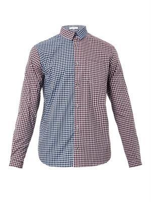 Multi-check cotton shirt