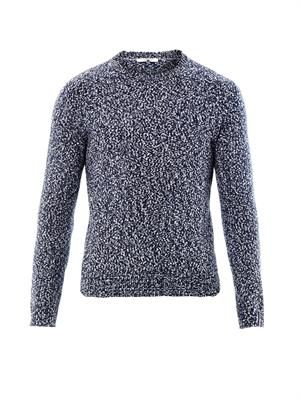 Speckled-knit sweater