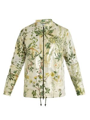 Herbal-print bomber jacket