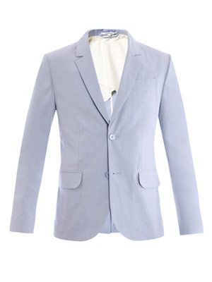 Contrasting under-the-collar jacket