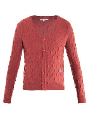 Honeycomb-knit cardigan