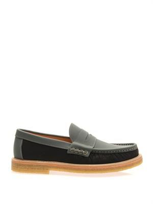 Bamboo and leather loafers
