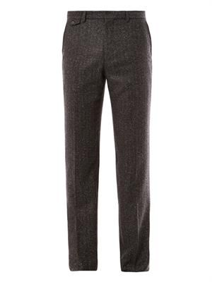 Mottled wool tailored trousers