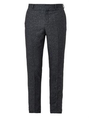 Herringbone-weave tailored trousers