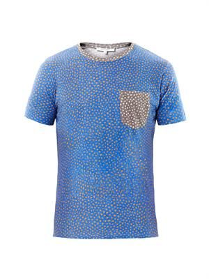 Abstract dot-print T-shirt