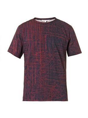 Scratch-print T-shirt