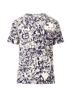 Scribble-print T-shirt