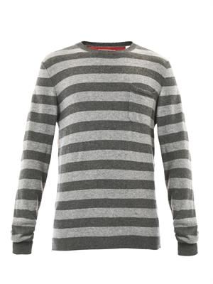 Striped cashmere sweater