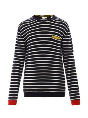 Stripe intarsia-knit merino-wool sweater