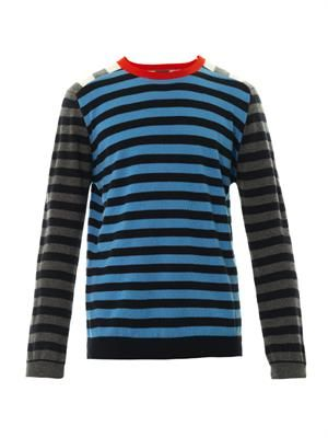 Crazy stripe cashmere sweater