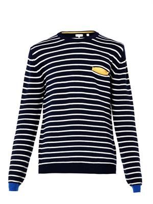 Striped merino-wool sweater