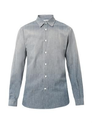 Faded-denim shirt