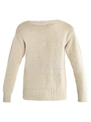 Linen and silk sweater