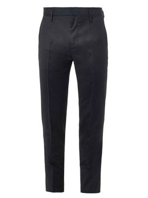 Skinny-leg wool-blend trousers