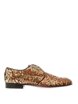 Sequinned lace-up shoes