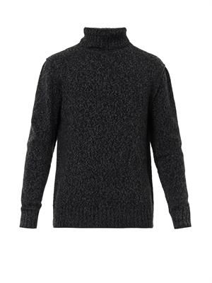 Cashmere and wool-blend sweater