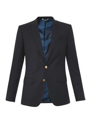Martini-Fit gold button blazer