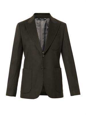 Two-button cashmere blazer