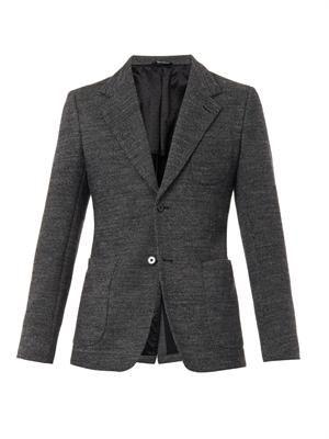 Two-button wool-blend blazer