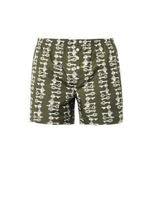 Key-print swim shorts