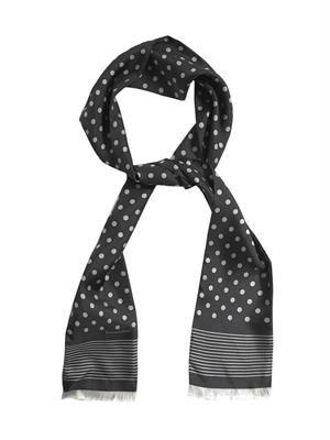 Polka-dot silk scarf