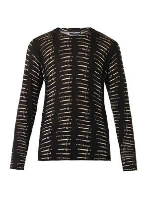 Dagger-print wool sweater