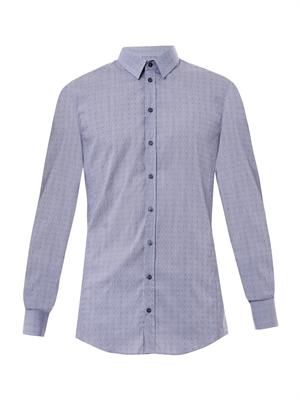 Sicilia-Fit micro dot-print shirt